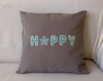 HAPPY 183 square Cushion cover