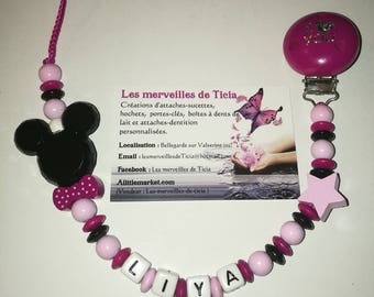 "Personalized pacifier ""Minnie"""