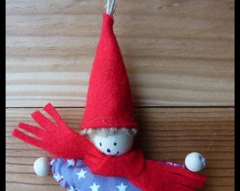 Christmas Elf in to hang or place.