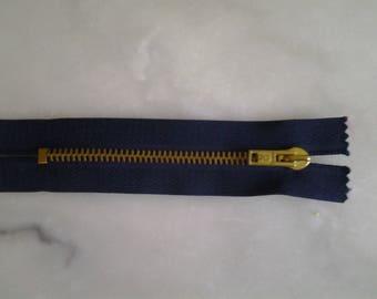 Blue zipper Navy 12 cm in length