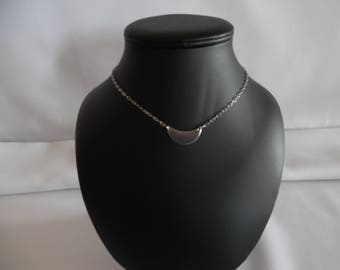 Minimalist Choker necklace, chain and stainless steel pipe.