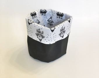 "Tidy / cart fabrics - themed ""Raccoon"""