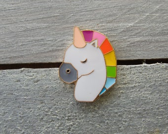 Unicorn metal pin