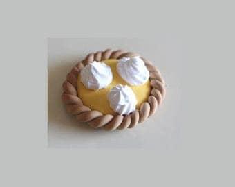 Daintiness, tart lemon meringue, polymer clay