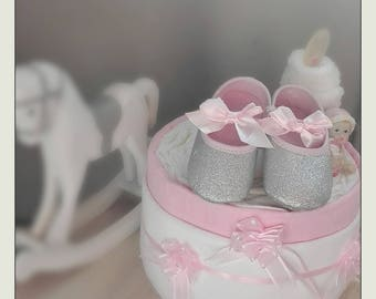 To offer at a baby diaper cake.