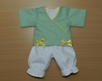 Clothing, wrap and pants compatible doll Corolla 30 cm