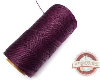 8 meters of plum purple macrame 0.7 mm waxed polyester cord