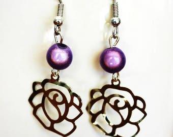 Fancy pink beads earrings