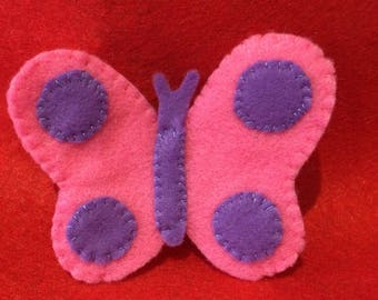 felt finger puppet animals Butterfly