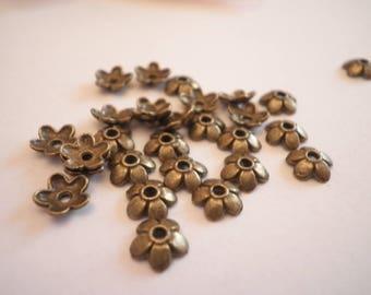 quality bronze 20jolies 6.5 mm metal bead caps