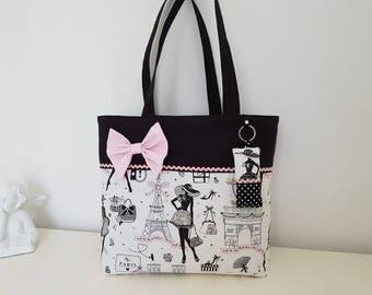 """""""Paris"""" motif cotton tote bag"""