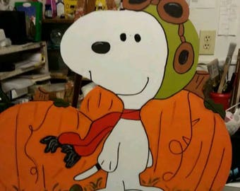 Halloween snoopy Red Baron 28 in