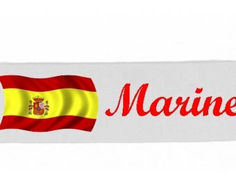 White girl Spain customized with name banner