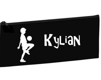 Football player black school bag personalized with name