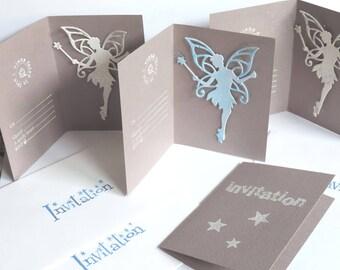 invitation cards birthday girl. Theme: fairies