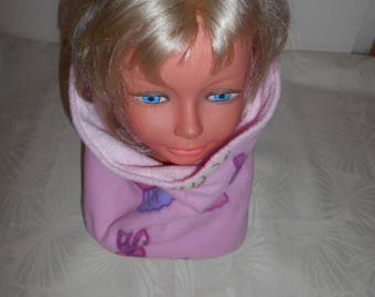 girl snood all fleece pink - tutu and Ballet shoe