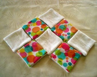 Wipes washable bamboo and cotton