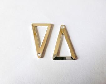 4 charms triangle geometric 23 * 13mm end metal (SFBA02)
