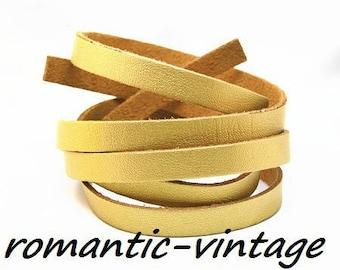 "1 m strap faux leather shiny gold ""metallic"" 8mm"