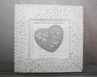 Plaster and its fragrant heart frame