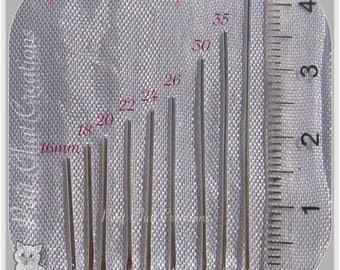 900 nail MIX 16 flat head pins - 40 MM METAL ARENTE clear (9 x 100) * 1