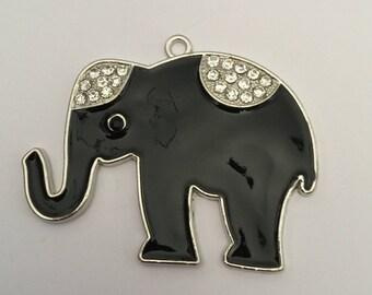 Black elephant + rhinestones