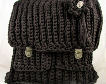 Form yarn HOOOKED Brown Satchel bag