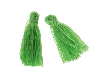 Tassel cotton 30mm lime green