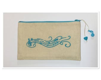EMBROIDERED REACH MUSICAL TREBLE CLEF TURQUOISE KIT