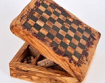 A multi games made with olive wood