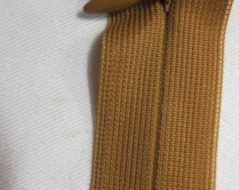 Brown 40 cm Invisible zip closure