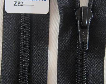 Black 75 cm separable zipper closure
