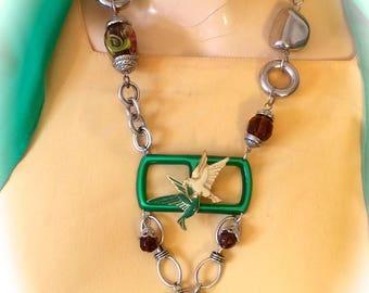 Necklace creator spirit art vintage birds