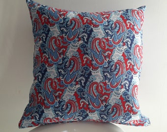 Red white blue Cushion cover; geometric 40 x 40 cm