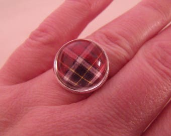 CLEARANCE cabochon glass red white and black