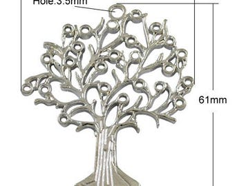 5 charm tree of life silver 61mm