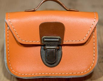 Mini-cartable Orange Leather