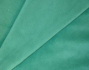 Short hair - emerald green 50x50cms minkee fabric