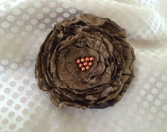 Flower 8 cm satin sequin beads
