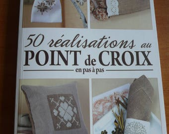 french book - 50 achievements at the crossstitch step by step - diy -