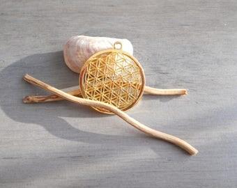 Golden Flower of life pendant