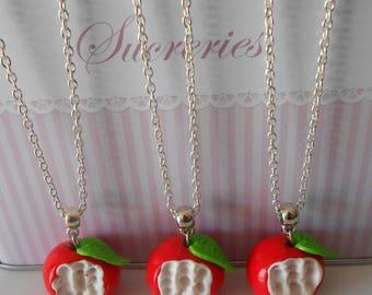 Bitten Apple necklace