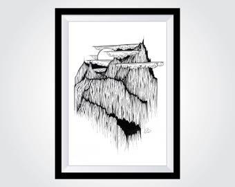 "A4 Mountain Landscape Fine Art Print - Canadian Bugaboos - (approx. 8"" x 12"")"