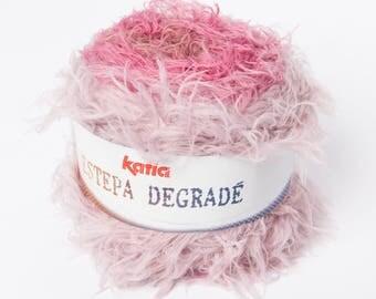 Wire knitting ESTEPA gradient - 303 collar Katia hairy