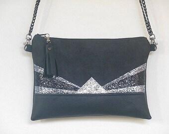 Bag Greta black and silver
