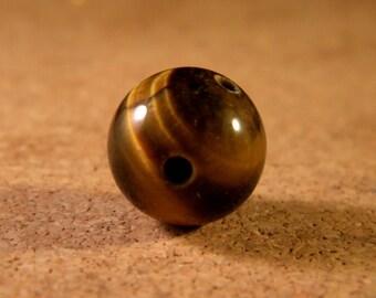 Pearl connector 14 mm 3 holes with holder - Buddhist MALA - Tiger eye - ethnic-MALA8