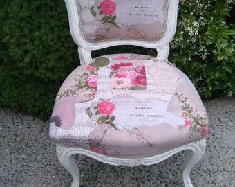 patina antique French Louis XV Rococo Chair