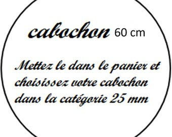 1 cabochon clear 60 mm round mirror
