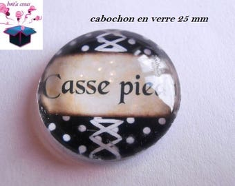 1 cabochon clear 25 mm round theme default message