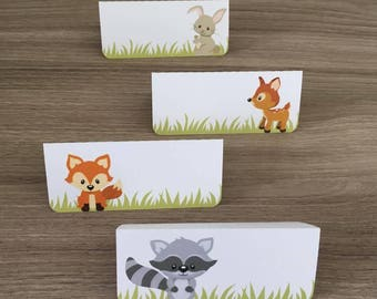 forest animal themed place card